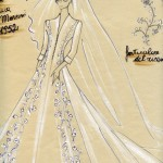 Bozzetto per l'abito di Gioia Marconi (1952)